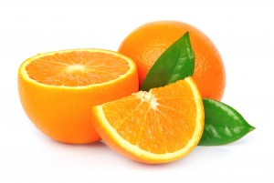 orange fruit with leafs
