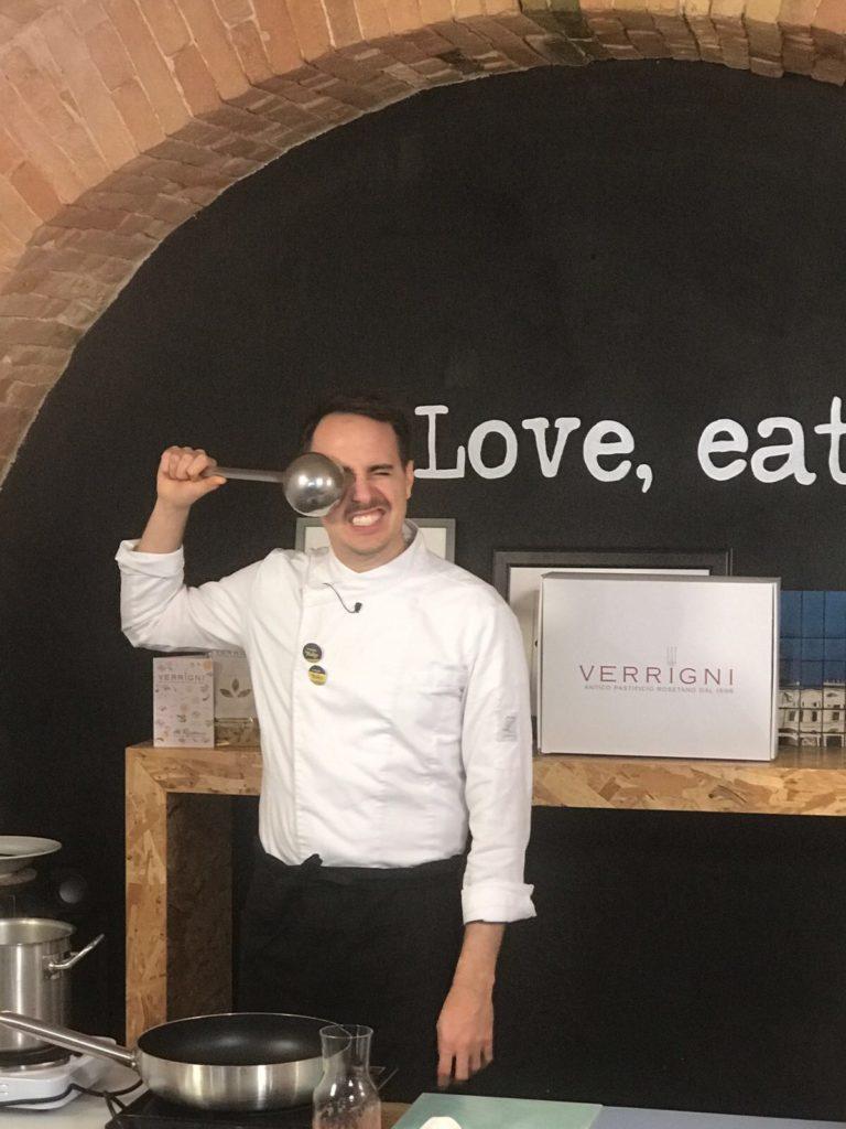 Gianni Dezio Chef in cucina